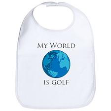 My World is Golf Bib
