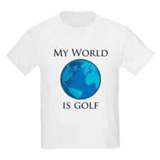 My World is Golf Kids T-Shirt