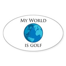 My World is Golf Oval Decal
