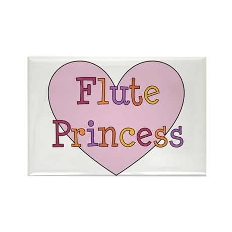 Flute Princess Rectangle Magnet