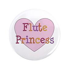 """Flute Princess 3.5"""" Button"""