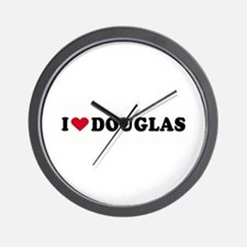 I LOVE DOUGLAS ~  Wall Clock