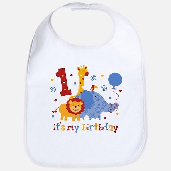 Safari 1st Birthday Bib