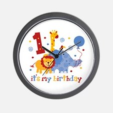 Safari 1st Birthday Wall Clock