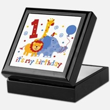 Safari 1st Birthday Keepsake Box