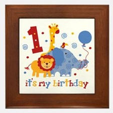Safari 1st Birthday Framed Tile