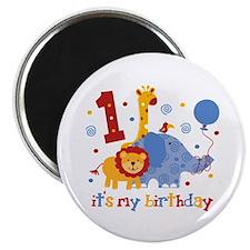 Safari 1st Birthday Magnet