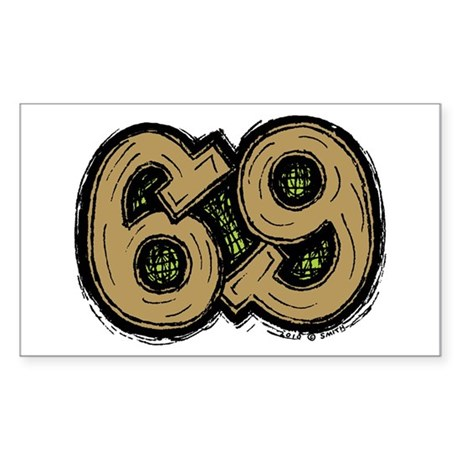 69 Sticker (Rectangle)