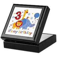 Safari 3rd Birthday Keepsake Box