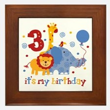 Safari 3rd Birthday Framed Tile