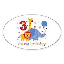 Safari 3rd Birthday Decal