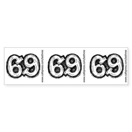 69 Sticker (Bumper)
