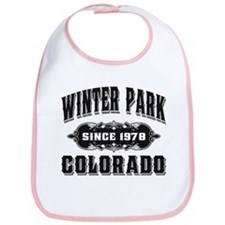 Winter Park Since 1978 Black Bib