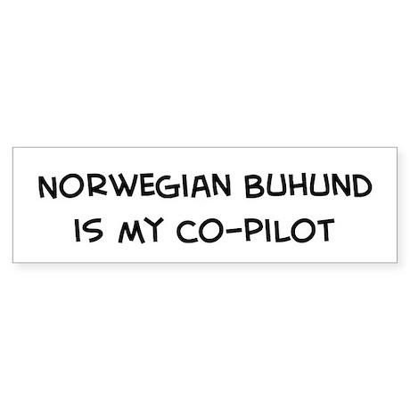 Co-pilot: Norwegian Buhund Bumper Sticker