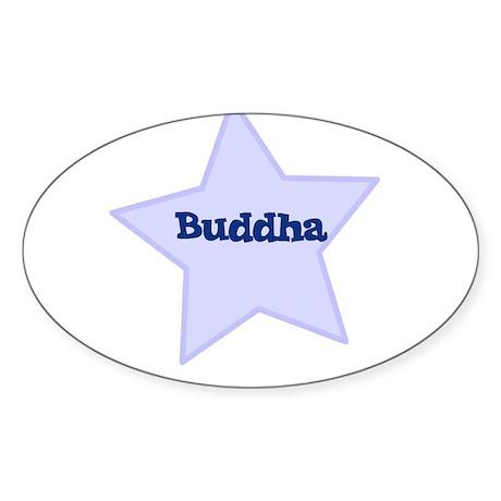 Buddha Oval Sticker