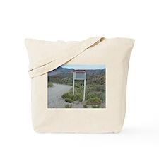 Warning Sign on Groom Lake Ro Tote Bag
