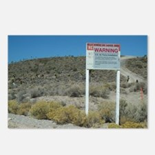 Warning Sign on Groom Lake Ro Postcards (Package o