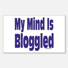 Mind Is Bloggled Rectangle Decal