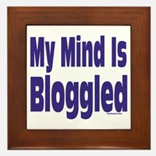 Mind Is Bloggled Framed Tile