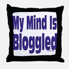 Mind Is Bloggled Throw Pillow