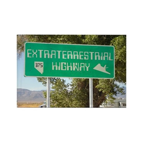 New ET Highway Sign Rectangle Magnet