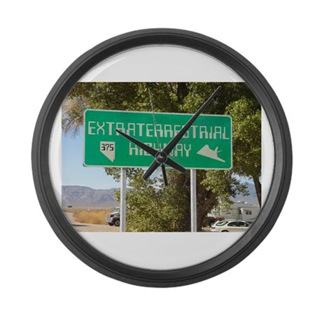 New ET Highway Sign Large Wall Clock