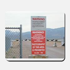 Back Gate Warning Sign Mousepad