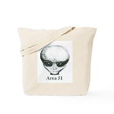 Area 51 Alien Tote Bag