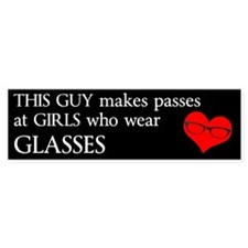 Girls Who Wear Glasses Bumper Sticker
