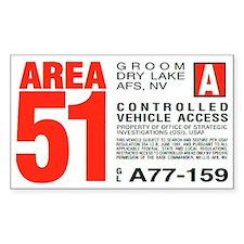 Area 51 Parking Pass Decal