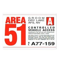 Area 51 Parking Pass Postcards (Package of 8)
