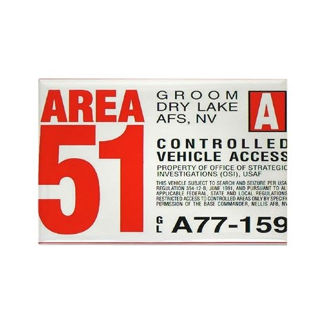 Area 51 Parking Pass Rectangle Magnet (10 pack)