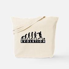 Evolution of a Soccer Player Tote Bag