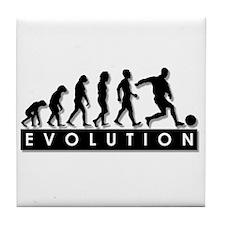 Evolution of a Soccer Player Tile Coaster
