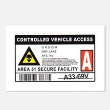 Area 51 Controlled Parking Pa Postcards (Package o