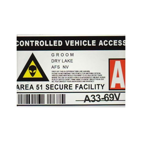 Area 51 Controlled Parking Pa Rectangle Magnet