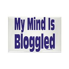 Mind Is Bloggled Rectangle Magnet
