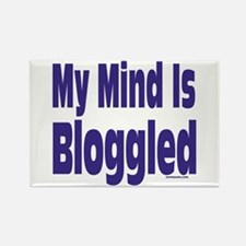 Mind Is Bloggled Rectangle Magnet
