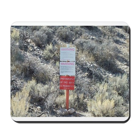 Old Warning Sign on Groom Lak Mousepad