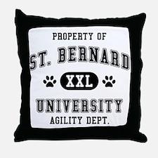 Property of St. Bernard Univ. Throw Pillow