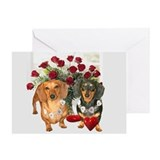 Dachshund love Greeting Cards