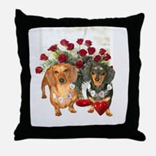 Dox Love Throw Pillow