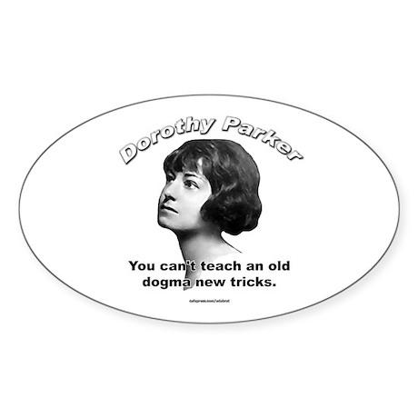 Dorothy Parker 01 Oval Sticker