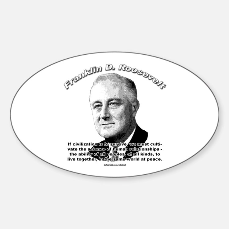 Franklin D. Roosevelt 01 Oval Decal