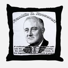 Franklin D. Roosevelt 01 Throw Pillow