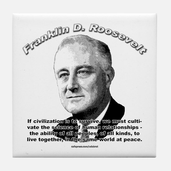 Franklin D. Roosevelt 01 Tile Coaster