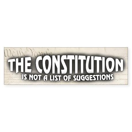 Constitution Sticker (Bumper)
