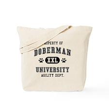 Property of Doberman Univ. Tote Bag