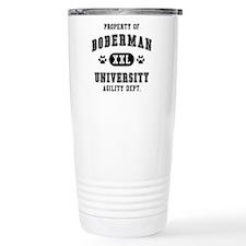 Property of Doberman Univ. Travel Mug