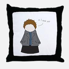 Tiny Edward Cullen Throw Pillow